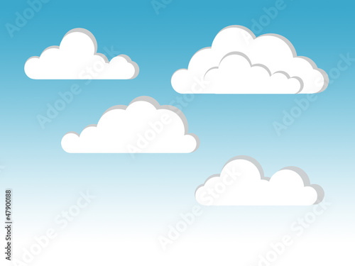 Poster de jardin Ciel cloud illustration