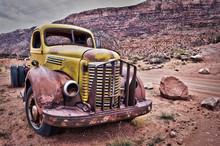 Camion Vintage Rouillé - Mont...