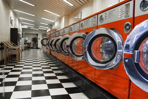 Fotografie, Obraz  Interior of laundromat