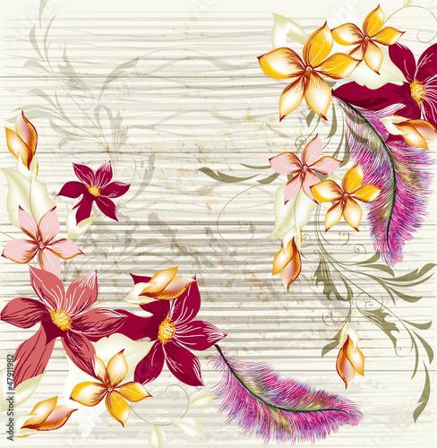 Plakat na zamówienie Floral background