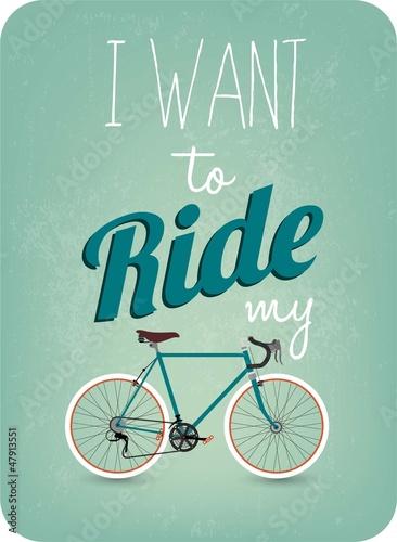Fototapety, obrazy: Vintage Retro Bicycle Background