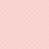 Polka dots on baby pink background seamless vector pattern