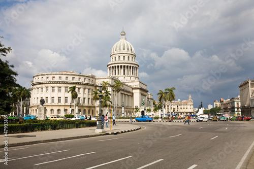 Deurstickers Havana Capitol, Havana, Cuba