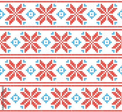Photo sur Toile Pixel Pixel holiday pattern. Scandinavian background