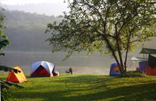 Tents In Recreation Area Near ...