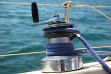 Sailing Boat Winch At Marina O...