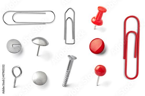 Fotografie, Obraz  push pin thumbtack paper clip office business