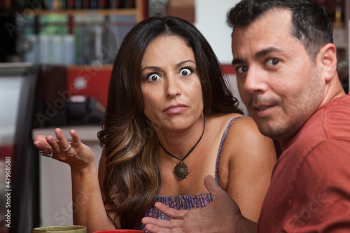 Fotografie, Obraz  Annoyed Couple in Cafe