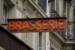 Brasserie sign in Paris
