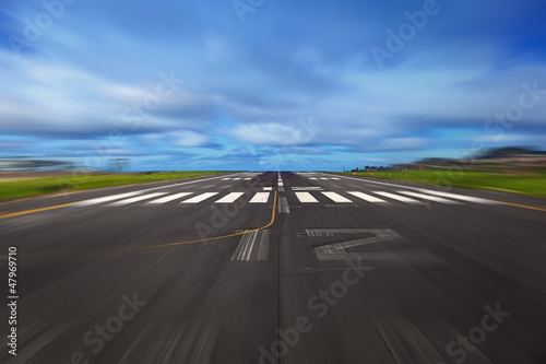 Aluminium Prints Airport Take Off Concept