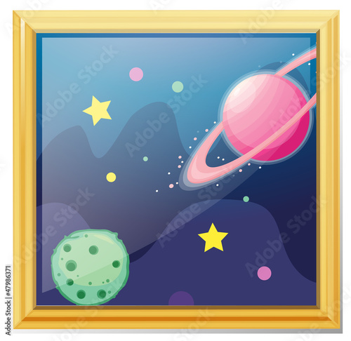 Foto op Canvas Kosmos A framed picture of the space