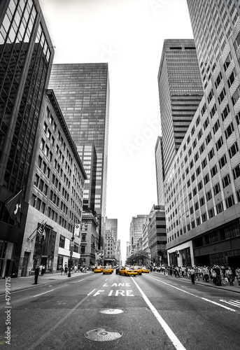 Staande foto New York TAXI new york et son avenue