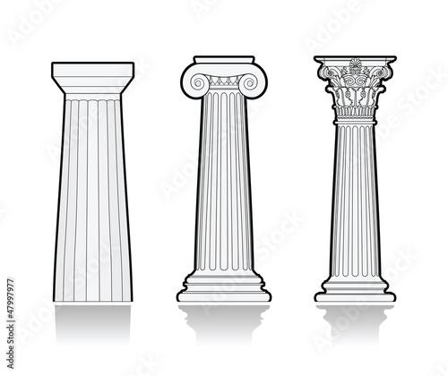 Cuadros en Lienzo Stylized Greek columns