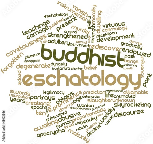Word cloud for Buddhist eschatology Canvas Print