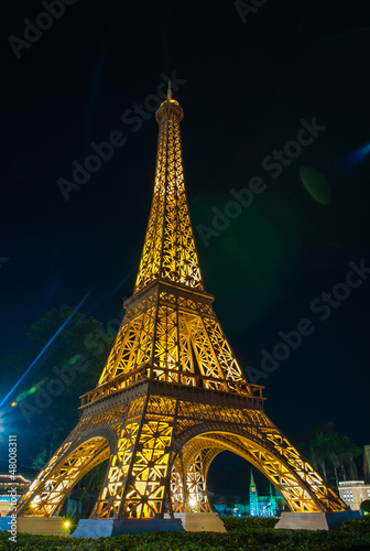 Wall Murals Eiffel Tower eiffel tower replica in mini siam