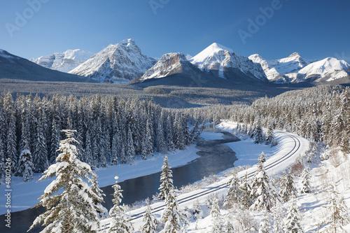 In de dag Canada Railway in Canadian Rockies