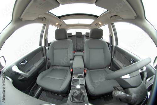 фотография  modern car interior with fisheye lens