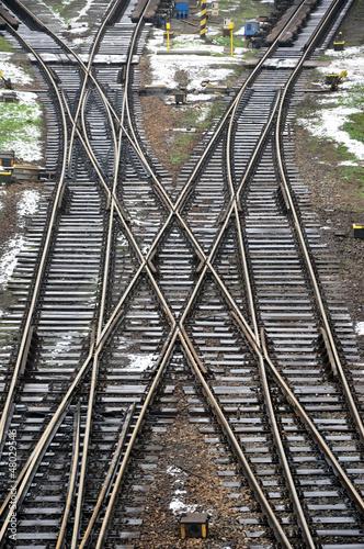 Aluminium Prints Railroad railway