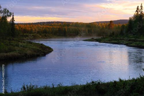 Foto op Aluminium Rivier Bright Night River
