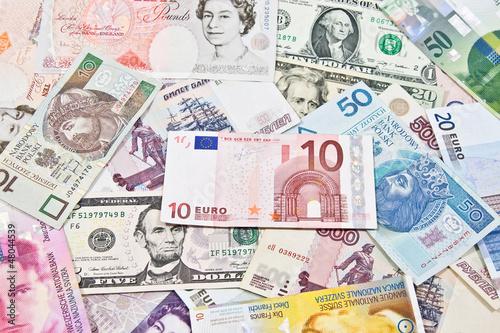 Fototapeta Waluty międzynarodowe obraz