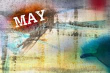 May Month Art Grunge Design