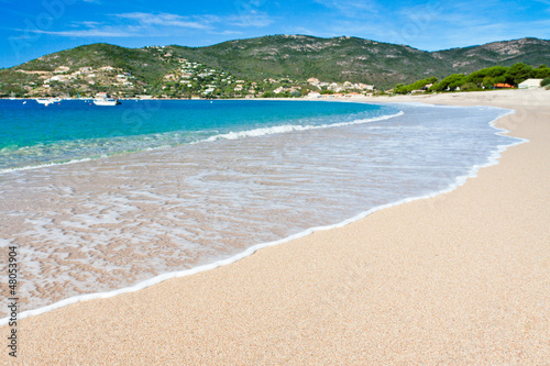 Foto-Leinwand - plage de Sagone, Corse