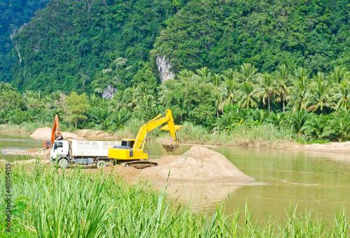 Fotografia, Obraz  Dredging the canal...