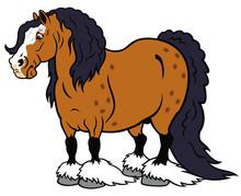 Cartoon Heavy Horse