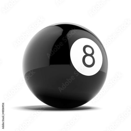 Fotografie, Obraz  Billiard eight ball