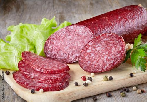 Fototapeta salami sausage obraz