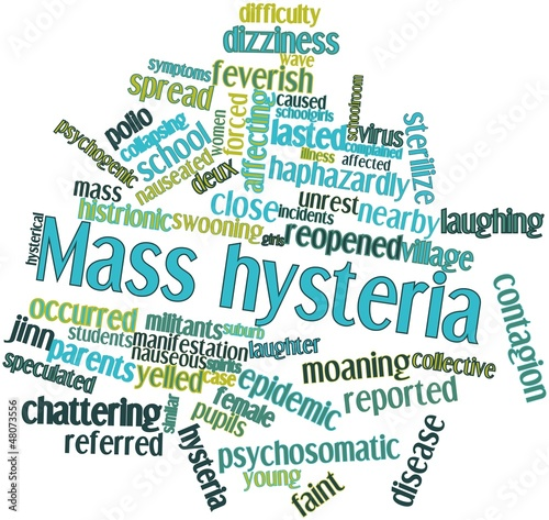 Word cloud for Mass hysteria Canvas Print