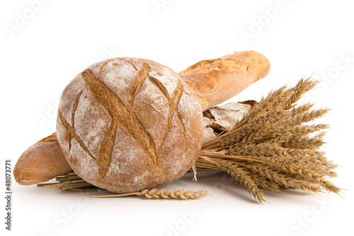 Brote und Weizenähren Fototapete