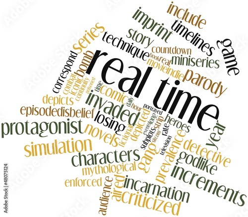 Fotografie, Tablou  Word cloud for Real time