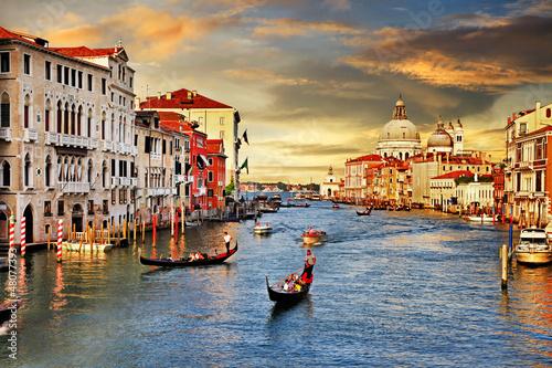 Poster Venise Venetian sunset