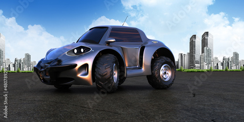 Foto op Canvas Cars road and offroad funny car