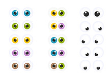 Set Of Googly Cartoon Eyes