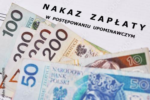 Fototapeta Nakaz zapłaty. obraz