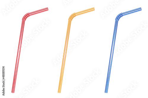 Obraz na płótnie Drinking straws Set