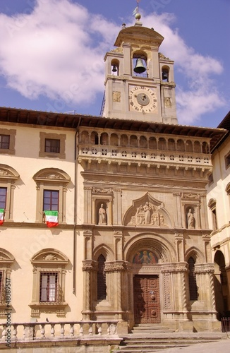Photo The gothic palace of the lay fraternity in Arezzoin Italy 9b858fd63ca
