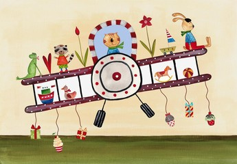 Naklejka Do pokoju dziecka Birthday greeting card
