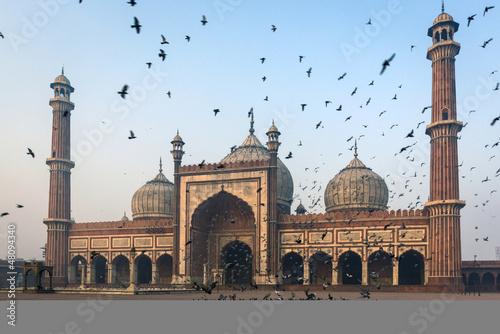 Stickers pour porte Delhi Jama Masjid mosque in Old Delhi, India