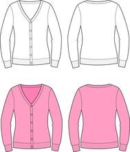 Vector Illustration Of Women's Cardigan