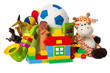 canvas print picture - children toys isolated on white