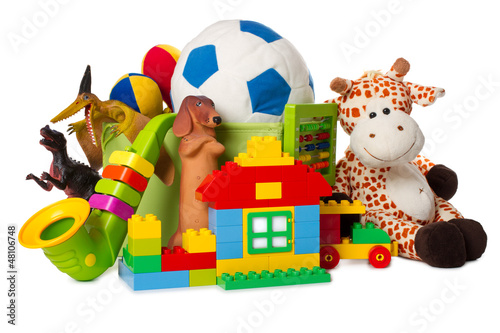 children toys isolated on white