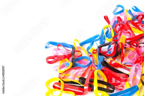 Fototapeta Colorful plastic band obraz na płótnie