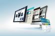 canvas print picture - Web design concept