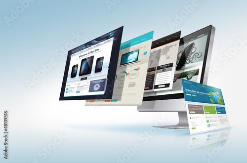 Fotografía  Web design concept