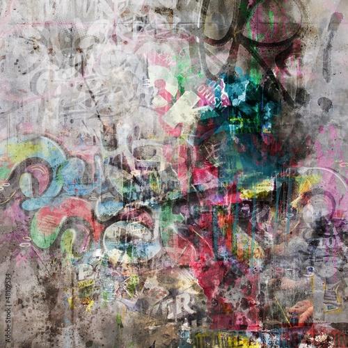 fundusz-mur-grunge-graffiti