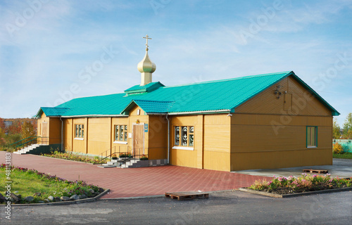 Photo The Holy assumption Church in the city of Apatity