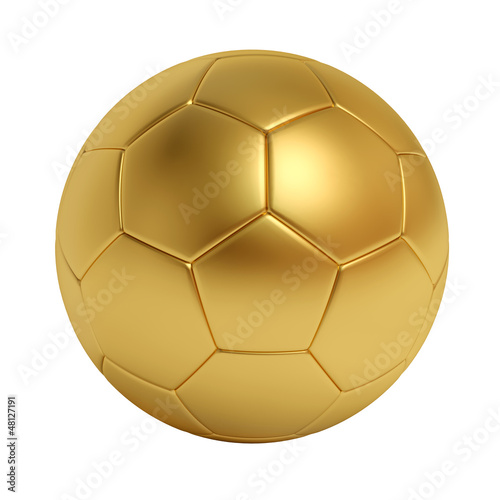 6a3f761a1 golden soccer ball isolated on white background - Buy this stock ...